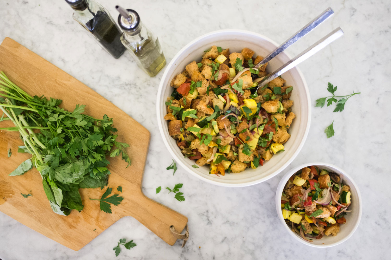 Roasted Vegetable Panzanella Salad