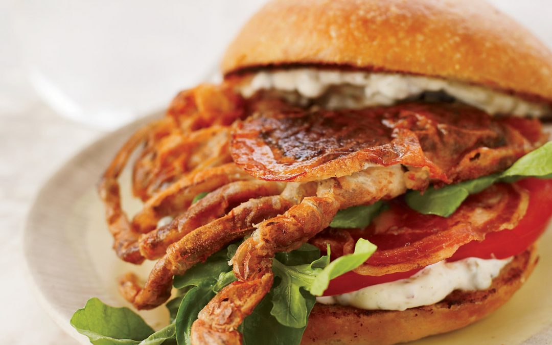Soft-Shell Crab with Bacon Sandwich Recipe