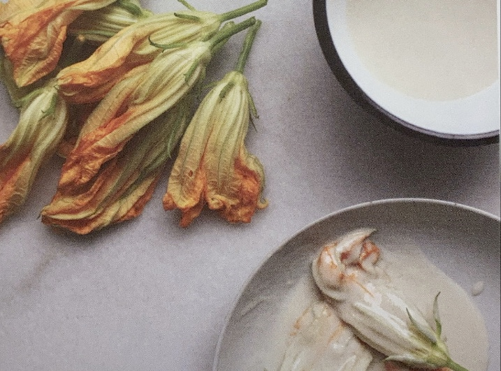 Fried Squash Blossoms with Ricotta and Honey