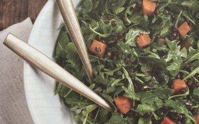 Arugula, Lentil, and Butternut Squash Salad