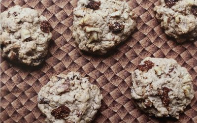 Fig Walnut Oatmeal Cookies